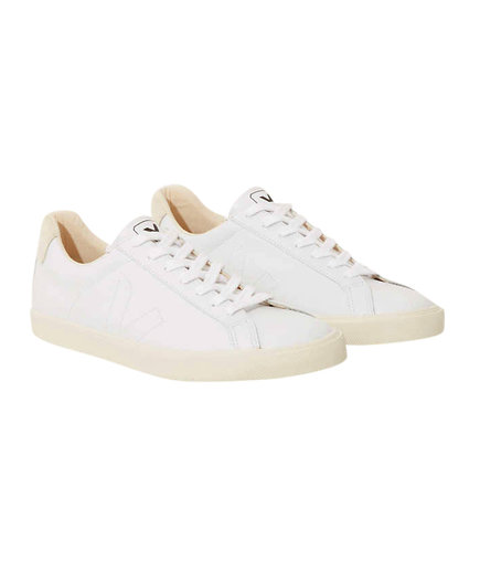 Veja Esplar Leather Extra white Pierre Natural Puxador Sneakers