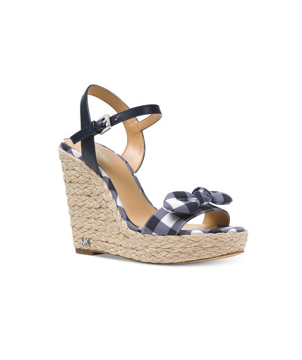 MICHAEL Michael Kors Pippa Gingham Espadrille Wedge Sandals
