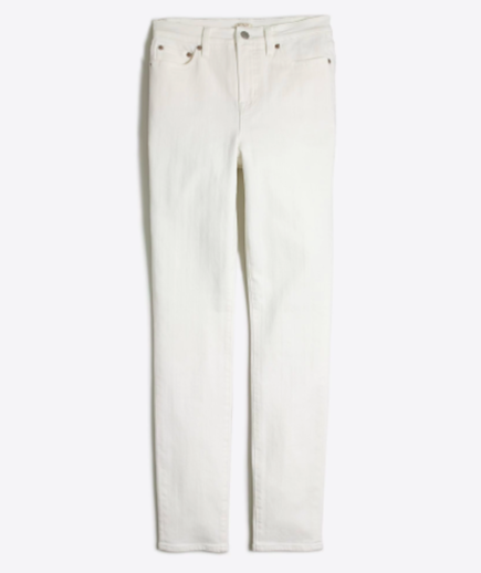 High Waister White Skinny Jeans