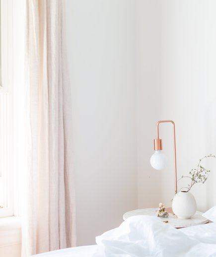 Blush curtain