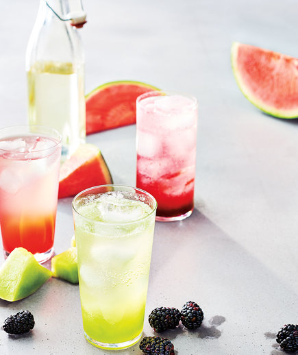 Easy Fresh Fruit Sodas