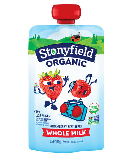 Stonyfield Organic Whole Milk Strawberry Beet Berry Pouch  (0818RTF)