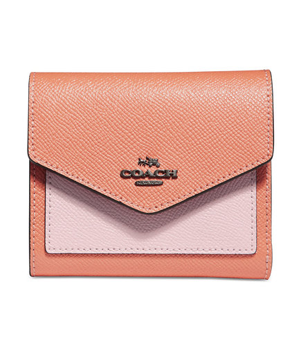 Coach Small Colorblock Wallet With Floral Interior