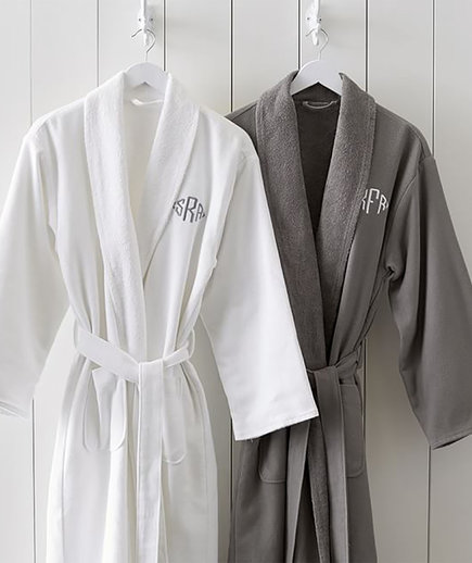 Monogrammed Organic Spa Robes