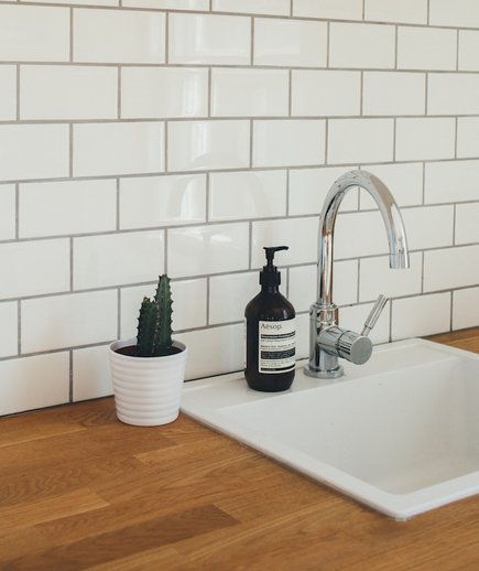 How to Clean Grout, bathroom sink and tile