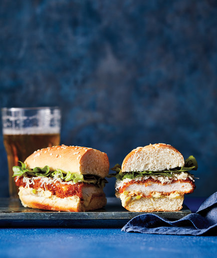 Chicken Cutlet Recipes: Crispy Chicken-And-Cheddar Sandwich With Pickle Dijon