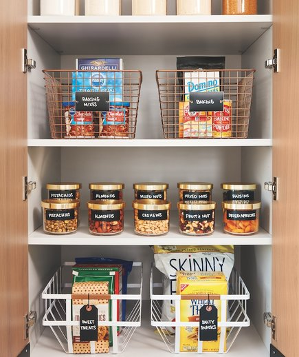 How to Organize a Pantry, tidy pantry in the Real Simple Home