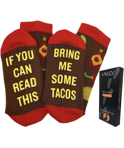 Best Last-Minute Christmas Gift for the Person Who Has Everything: Funny Taco Socks