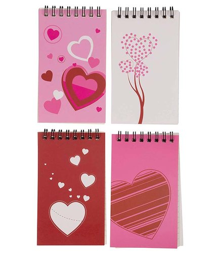 Heart Spiral Notepads (Last-Minute Valentine's Day Ideas for School)