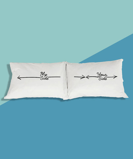 Funny Valentines Day Gifts: Him and Her Pillow Cases