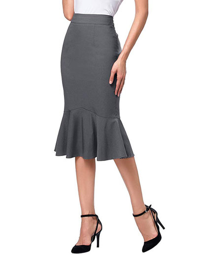 Kate Kasin Mermaid Stretchy Pencil Skirt