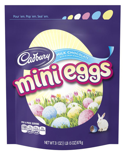 Cadbury Candy Coated Milk Chocolate Mini Eggs 31 Ounce Bag