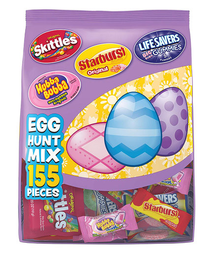 Skittles Starburst Original Lifesavers Gummies and Hubba Bubba Candy Easter 155 Piece Mix