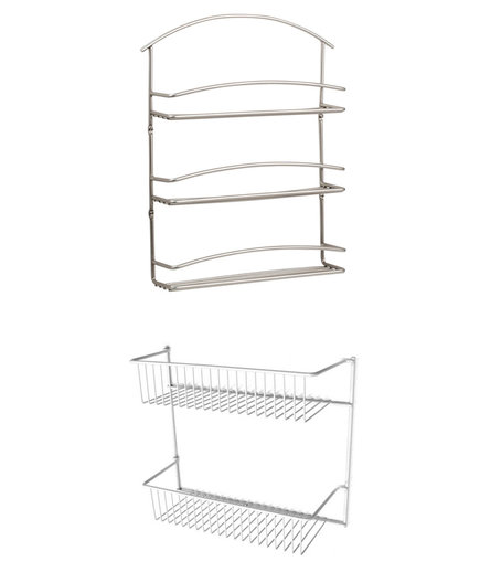 Spectrum Diversified Euro Wall-Mounted Spice Rack, Closet Maid 12 in. 2-Tier Storage Rack