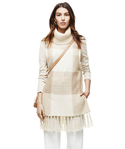 Adam Lippes for Target Cowl Neck Fringe Sweater