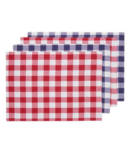 Americana BBQ Gingham Placemat Set