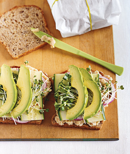 Smashed White Bean and Avocado Club