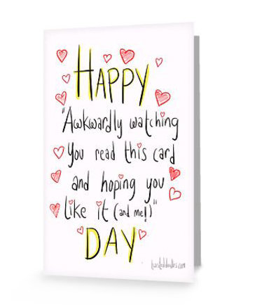 Valentineu0027s Day Is Awkward Card