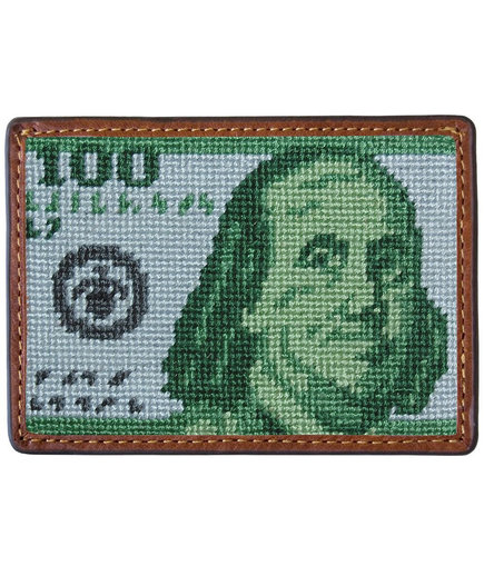 Benjamin Needlepoint Credit Card Wallet