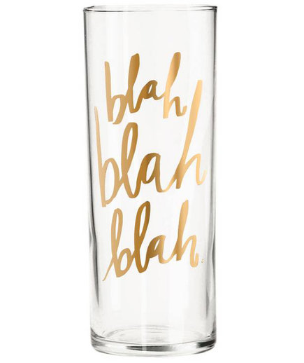 Blah Blah Blah Cocktail Glass