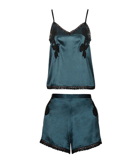 Topshop Lace Embroidered Pyjama Cami and Shorts