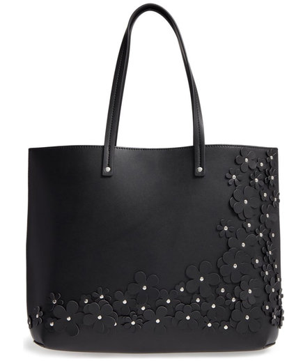 Printed Zip Top Tote