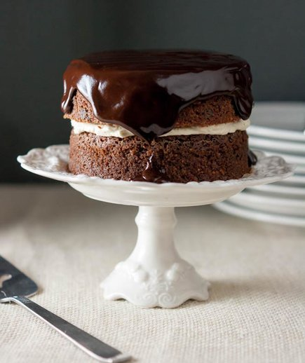 Dark Chocolate Irish Potato Cake With Bailey's Cream Filling
