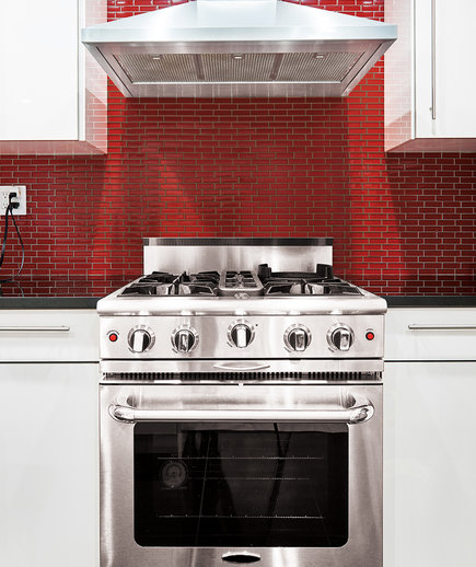 cleaning oven bright red backdrop easy