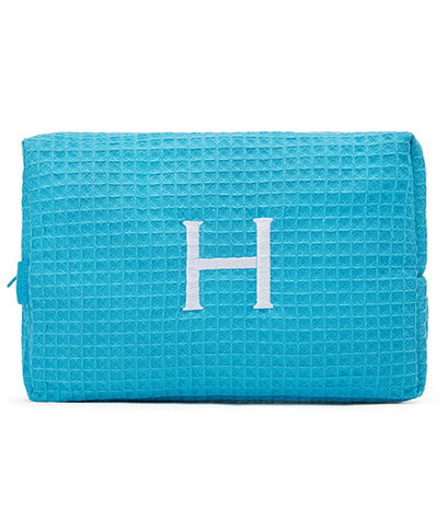 The Knot Shop Large Cotton Waffle Cosmetic Bag