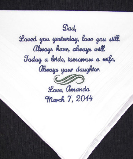 to my dad on my wedding day letter