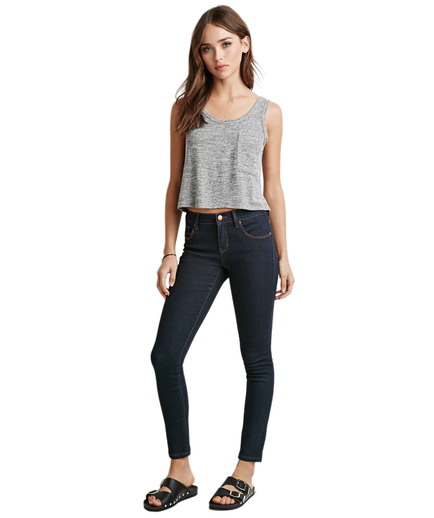 Forever 21 Ankle Jeans Grey