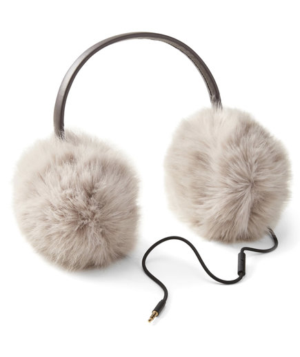 Faux Fur Earmuffs With Headphones