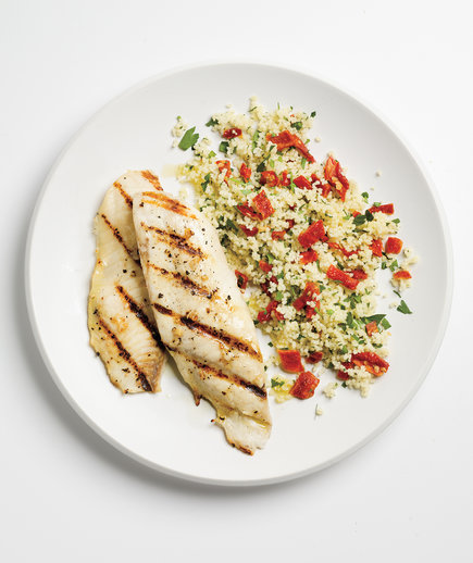 calorie low dinner easy recipes tilapia healthy meals calories recipe simple dinners garlicky grilled food couscous fish masters charles realsimple