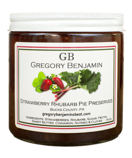 Gregory Benjamin Strawberry Rhubarb Pie Preserves