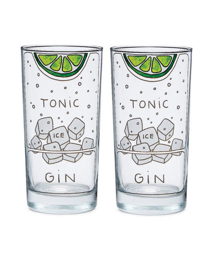 Gin and Tonic Diagram Glassware