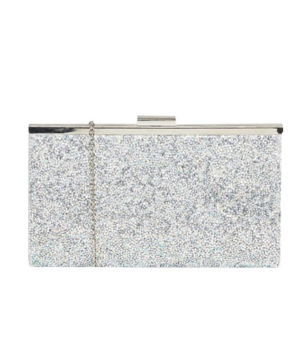 Glitter Frame Clutch Bag