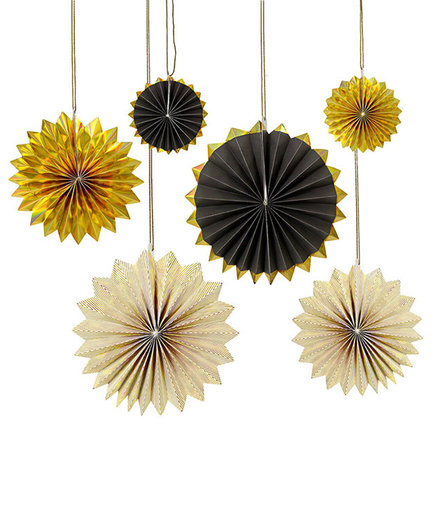 Gold Pinwheel Decorations