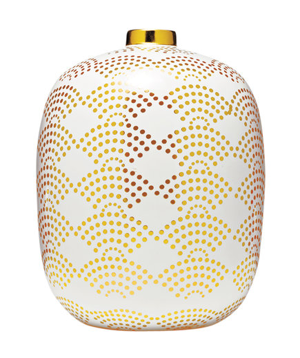 Gold Polka Dot Ceramic Vase