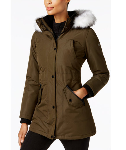 Halifax Faux Fur Trim Water Resistant Coat