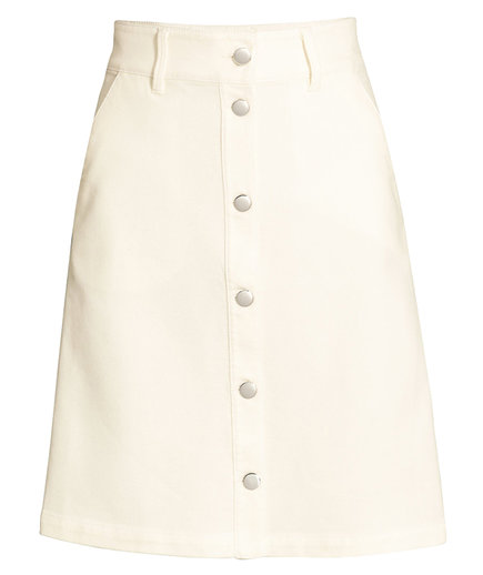 H&M Denim Skirt ivory