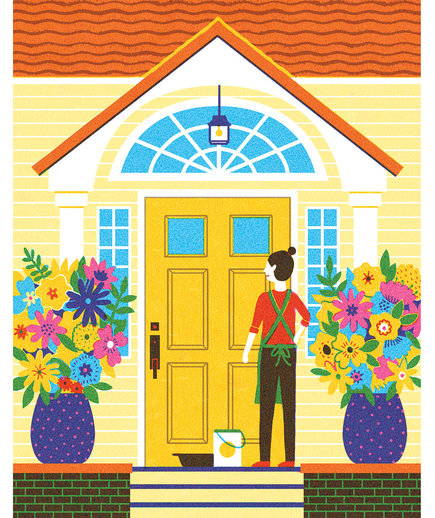 Illo: Paint Front Door
