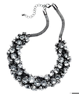 Send the Trend Metal-and-Crystal Necklace