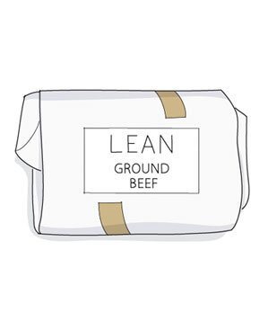 Illustration of lean ground beef