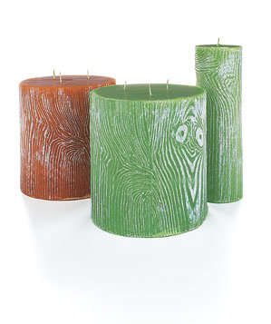 Branca etched candles