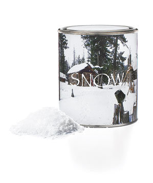 Faux snow in a can