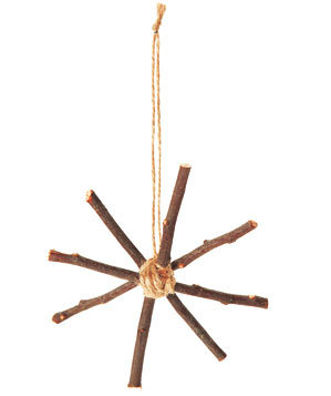 Stick star ornament