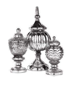 Mercury-glass urns