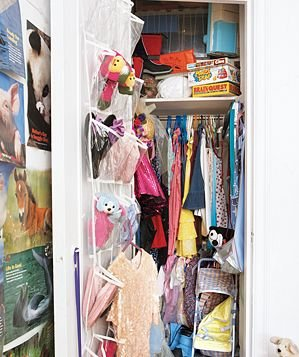 Children's messy closet