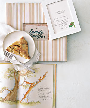 Family recipes, childrens book and apple pie