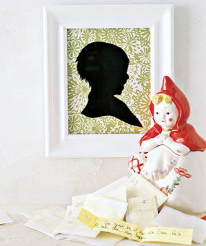 Love notes, framed silhouette and cookie jar